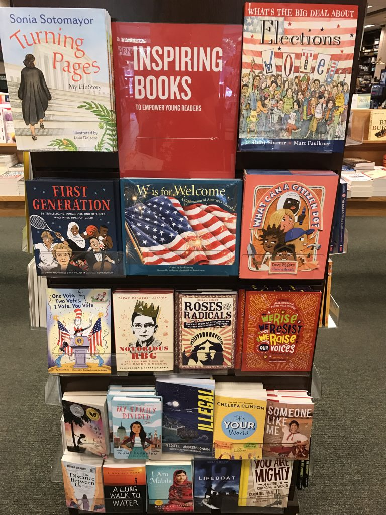 This is obviously one of the many displays that Barnes & Noble puts  together every week/month and each time, the display revolves around a  different topic.